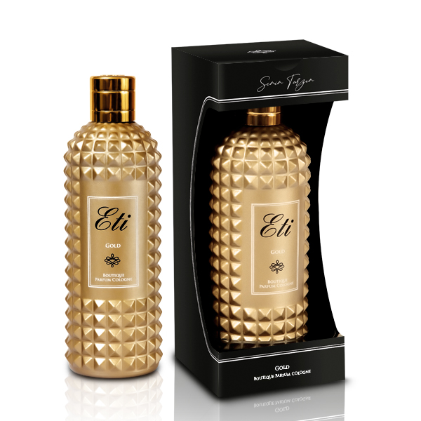 Boutique Perfume Cologne - Gold - 300 ml Glass Bottle - With Box